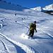 Ski plaisir à la descente du Folliu Borna sur les Sciernes d'Albeuve