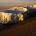 Die letzten Gletscher am Gipfel