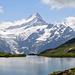 Bachalpsee mit Schreckhorn und Finsteraarhorn (in den Wolken)