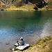 Der See liegt in einem Kessel und ist von drei Seiten umgeben. Somit herrscht hier eine fast völlige Stille.