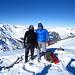 Ein kalter Wind am Gipfel - wir blieben nicht allzu lange