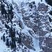 Lunga cascata di ghiaccio sulle pendici del Pizzo Molare