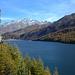 im Aufstieg mit Blick zum Silsersee