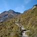 Aufstiegsweg mit Blick zum Piz Lunghin