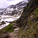 Il sentiero dall'Oberalpass verso la Val Maighels