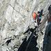 Hier kommt der erste kurze Zwischenabstieg auf einen Gletscher.