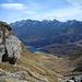 die letzte Steilstufe zum See wird erklommen und nun wird auch der Blick zur Bernina-Gruppe frei.