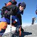 Nach 2800 Höhenmeter am Ziel, auf dem Tödi 3614m