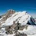 Der Gipfelgrat vom Skidepot aus