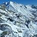 Particolare formazione di neve gelata sulla cima