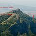 il lago di Massaciuccoli a sx,le montagne da me salite e a dx il litorale di Viareggio