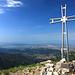 in vetta al monte Matanna...sullo sfondo il mare della Versilia...