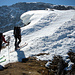 Aufstieg zum Gemsfairenstock, vom Frühling in den Winter.