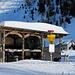 Endhaltestelle der Postautolinie bei der Alp Camp