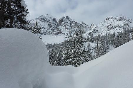 wunderschön in der unberührten Winterlandschaft - aber anstrengend