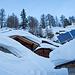 7. Januar: noch dringt kein Sonnenstrahl auf die Hütten der Gletscherstafeln
