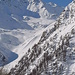 Steintalhorn, Augstbordstafel in der Bildmitte. Weiter unten im Tal konnte man Skispuren sehen.