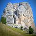 le 3 vette della Torre Grande d'Averau,a sx la cima Ovest con la parete dove sale la Via delle Guide...