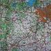 Westliche Umgebung von Мінск (Minsk) mit Lage vom Гара Дзяржынская (Hara Dzjaržynskaja) der auf der Karte auf Russisch Дзержинская гора (Dzeržinskaja gora) angeschrieben ist. Den Gipfel habe ich rot markiert.