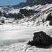 il Lago Baccio visto poco dopo la partenza.