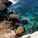 An der Mittelmeerküste zwischen Għar Lapsi und Ras il-Ħamrija - Tiefblick.