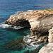 An der Mittelmeerküste zwischen Għar Lapsi und Ras il-Ħamrija - Zahlreiche Stellen an der Küsten sind unterhöhlt, wie auch hier bei Il-Mitqub (gemäß Karte).