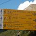 Wie bekannt, ist alles in der Region Aosta Top beschildert.