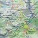 Pannello illustrativo all'arrivo del sentiero. Io ho seguito il n.10 fino al Colle du Lac Blanc e quindi il n.5 fino al Rifugio Barbustel