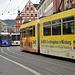 Die recht bunten Straßenbahnen am Neumünster<br />© Wilfried<br />