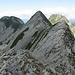 dalla quota m.1874,vista sulla cima principale e dietro la cima nord...