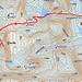 GPS-Karte mit der Route auf den Sälkatoppen