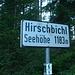 Der Paß Hirschbichl wird etwa 45 Min. nach Abmarsch überschritten. Jenseits geht es zunächst noch die Teerstraße hinab (sie würde weit gen Norden bis an den Hintersee führen) .....