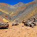 Valle del Rio Vacas Helada, dahinter Cerro Tortola Farbsättigung dem subjektiven Farbempfinden nachempfunden