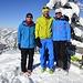 Gipfelpic, Pauli, ich, und Barbara getroffen