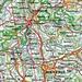 violett: Routenverlauf<br />rot: Verbindungslinie CH Nord-Süd (links + rechts 5 km Korridor)