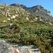 Das Faderhorn ist hoch über dem Bivacco Hinderbalmo bereits zu erkennen