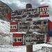Wegweiser kurz vor der Rotlahnscharte (Forcella Campanili): viele Wege gäbe es hier zu erkunden!