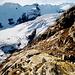 Nach langem Zusgtieg aus dem Urbachtal erblicke ich am Nachmittag endlich den riesigen Gauligletscher.