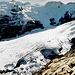 Die Zunge des Gauligletschers! Mächtig, aber bereits vom Zerfall gezeichnet. Situation Herbst 2001!