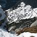 Tiefblick vom Gipfel nach Vens