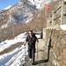 Start in Cortaccio, wenige Meter später konnten wir die Skis anschnallen