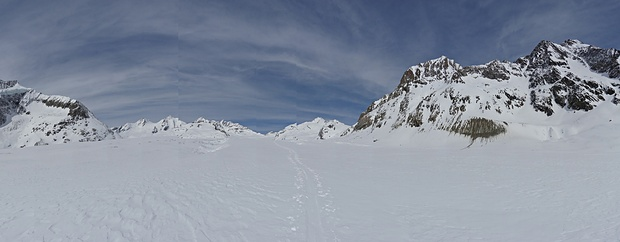 Auf dem Aletschgletscher...unglaubliche Dimensionen..
