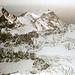 Blick über den Bifertenfirn zu den Gipfeln im Val Punteglias.