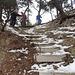 ein steiler Abstieg ...