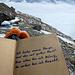 Nur auf den ersten Blick banal: Spruch im schönen Wissgandstöckli-Gipfelbuch...