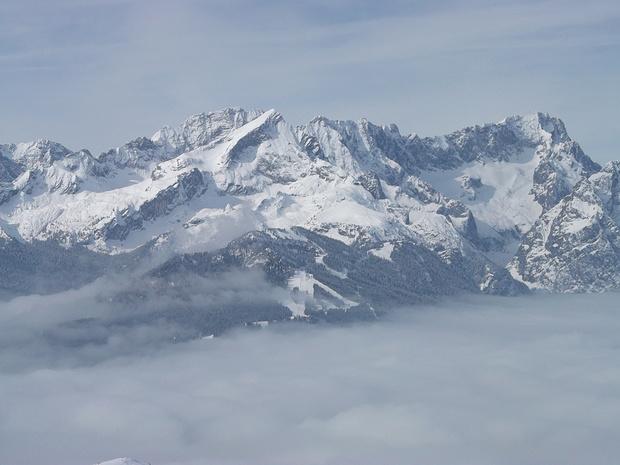 Roßwankpanoramaparade: Alpspitze, Jubigrat, Zugspitze
