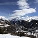 Blick herunter auf Zermatt