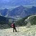 [u alpstein] im Abstieg - dort unten - doch noch so weit- wartet das Chalanda.