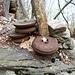 Umlenkrollen der Holz-Seilbahn