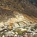 Befestigte Traversierung vis avis des Steinbruches bei Arvigo.